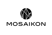 Mosaikon hostel logo in black